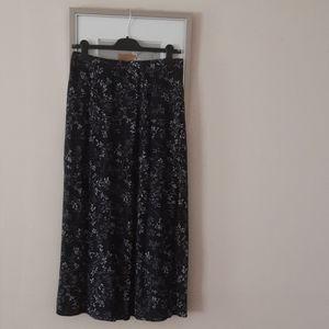 LL Bean Floral Maxi Skirt